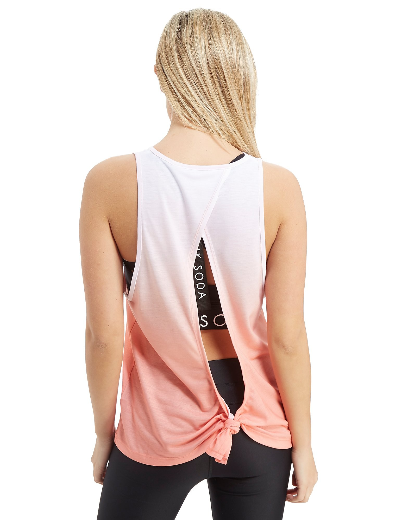 Pink Soda Sport Knot Back Vest Top