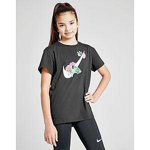 0c02b98fca Nike Girls  Sportswear Floral Swoosh T-Shirt ...