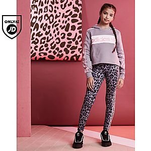 94312a81b6eb ... adidas Originals Girls  Linear Crop Hoodie Junior