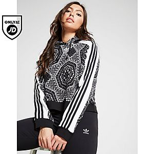 b55d15262a1ddb adidas Originals Cropped Clash All Over Print Hoodie ...