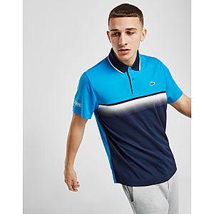 837e39791251 Lacoste Colour Block Stripe Polo Shirt ...