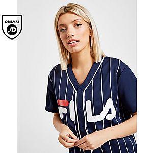 4fc55ca1a0686d Fila Stripe Baseball T-Shirt ...