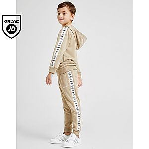 72cd7dde6012 adidas Originals Tape Poly Overhead Tracksuit Children ...