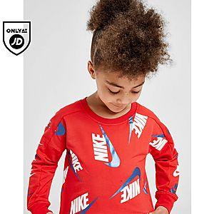7a2a7f9f185844 ... Nike Girls  Shine Print Crew Leggings Set Children