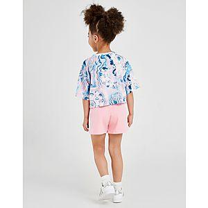 53dfa5f43d4ab5 ... adidas Originals Girls  Marble T-Shirt Short Set Children