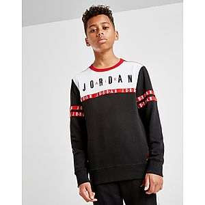 0f694f94554da5 ... Jordan Jumpman Tape French Terry Crew Sweatshirt Junior