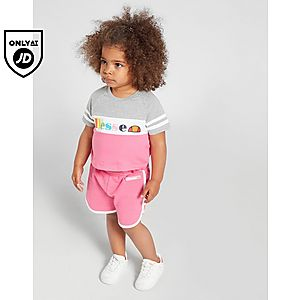 8c6a26b6f73e3a Ellesse Girls  Amapola T-Shirt Shorts Set Infant ...