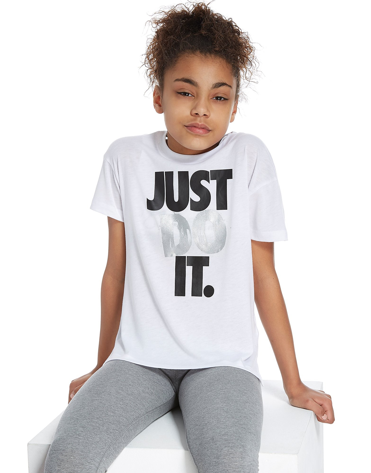 Nike Girls' Just Do It Cropped T-Shirt Junior
