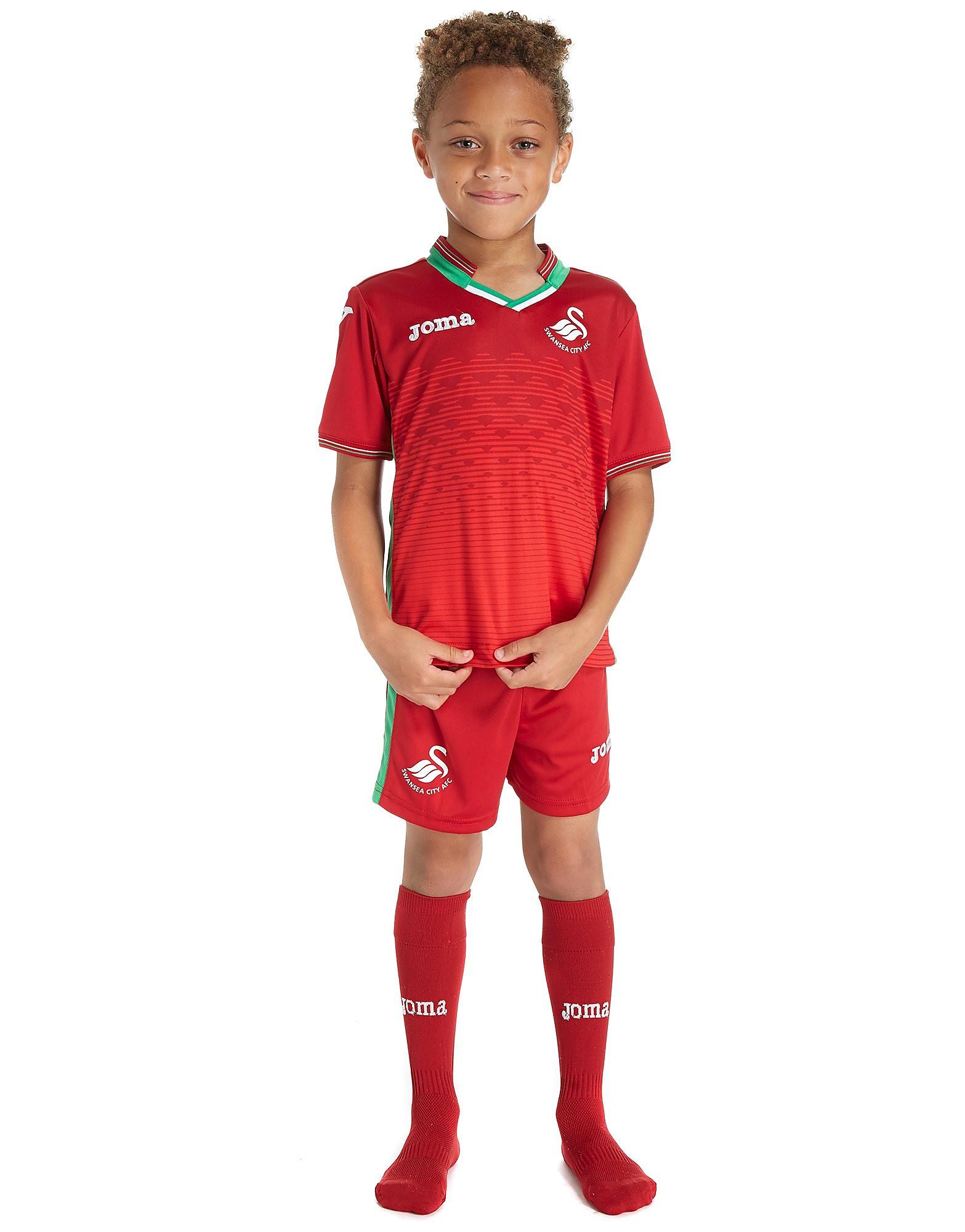Joma Swansea City FC 2017/18 Away Mini Kit Children