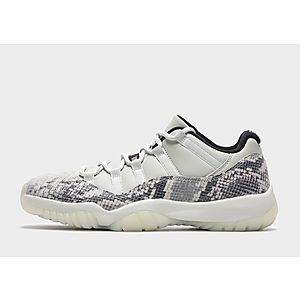 5ae4cd3c7ca0b3 JORDAN 11 Low Snakeskin  Light Bone
