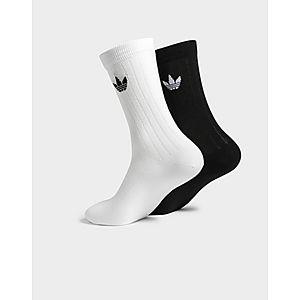 486485afe447 adidas Originals 2 Pack Mid Solid Crew Rib Socks