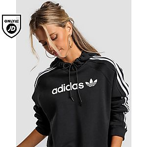 502d5222c08365 adidas Originals 3-Stripes Linear Overhead Cropped Hoodie
