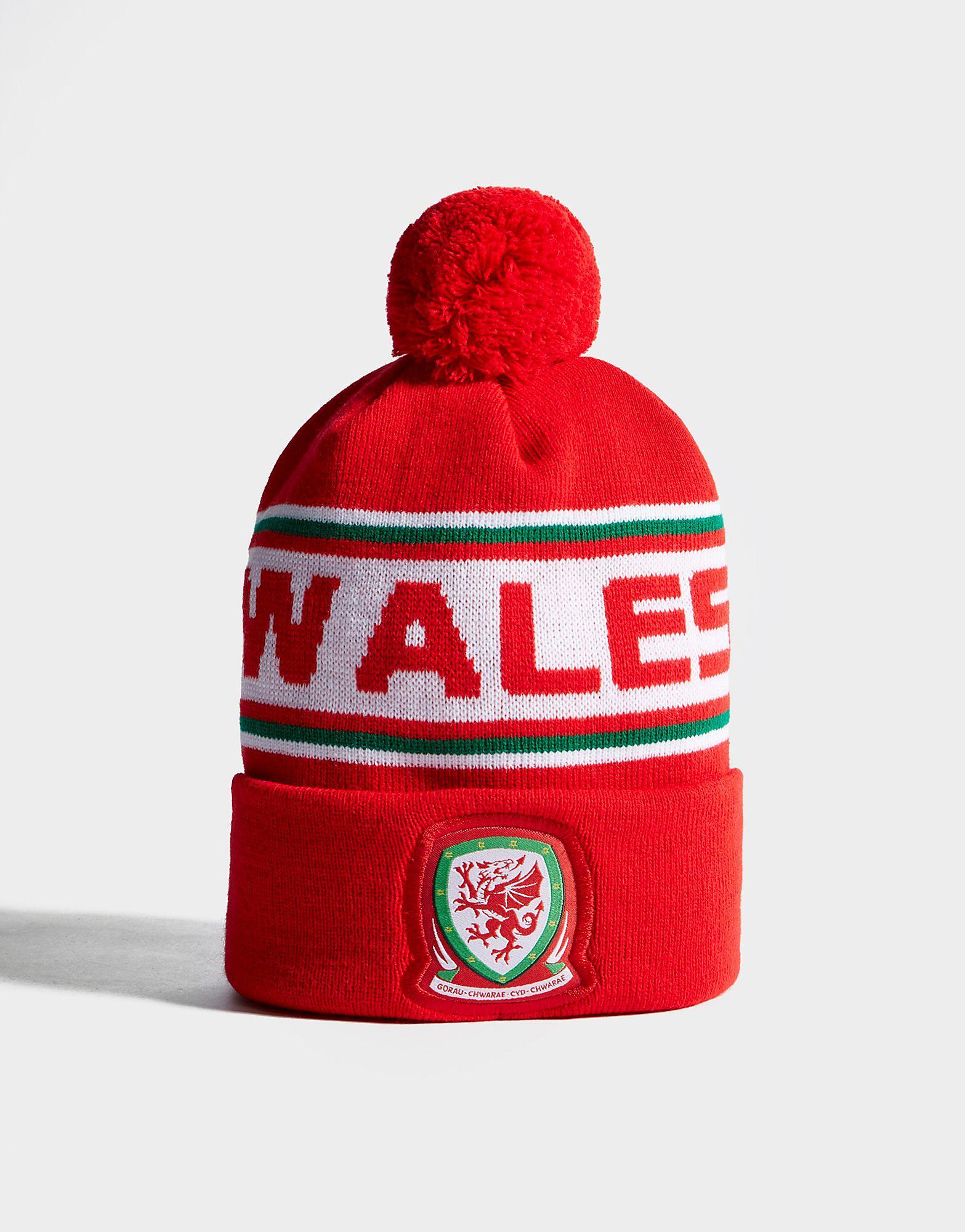 Official Team Gebreide pomponmuts met Wales-opschrift
