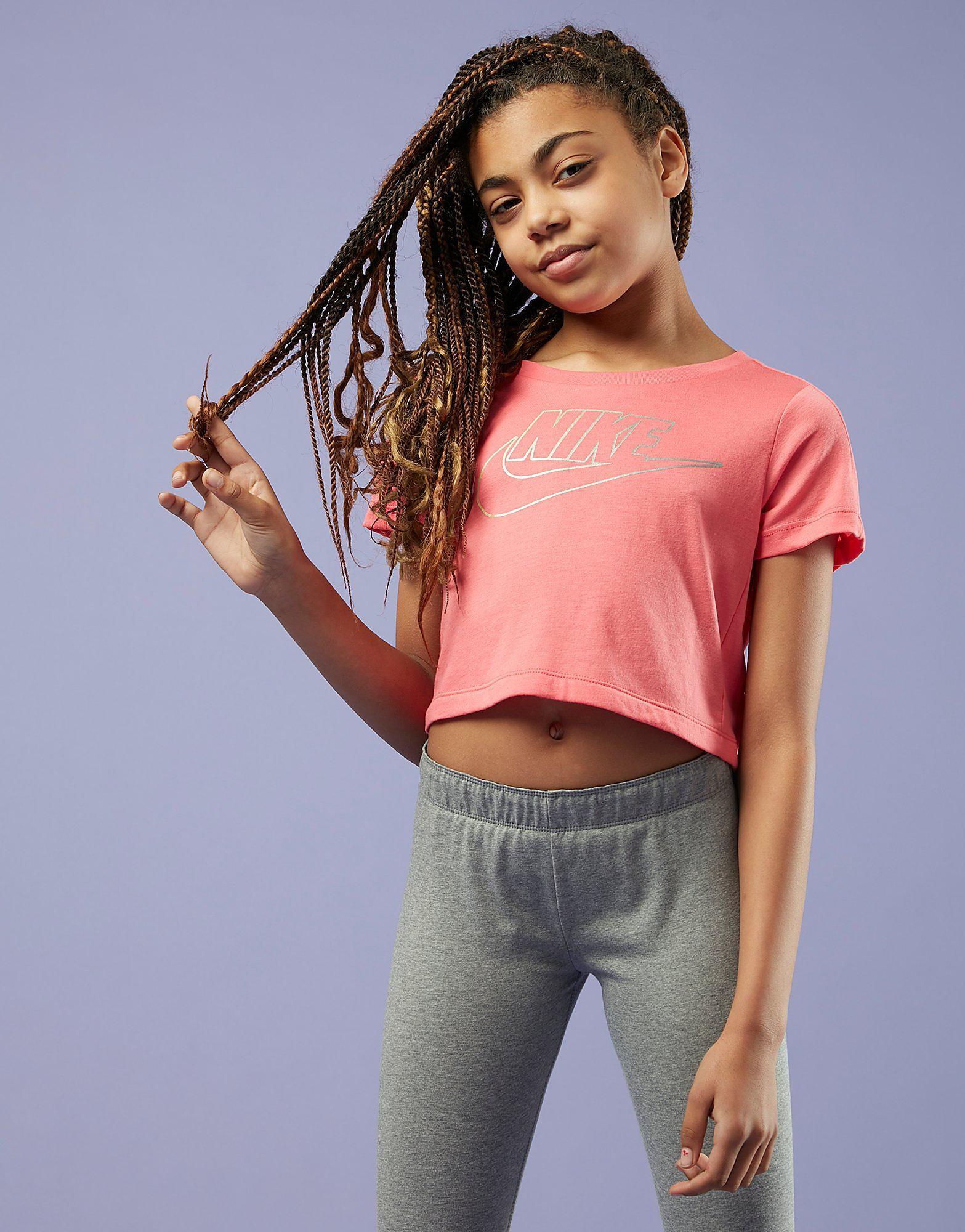 Nike Girls' Crop Futura T-Shirt Junior