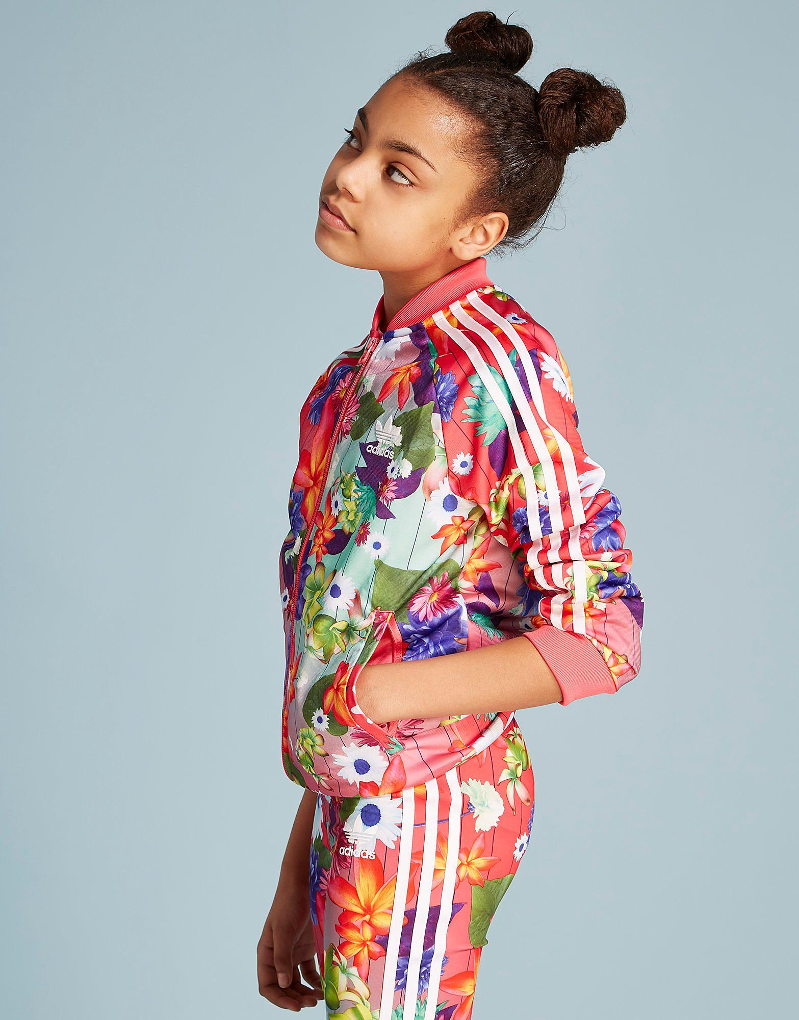 adidas Originals Girls' Floral Track Top Junior