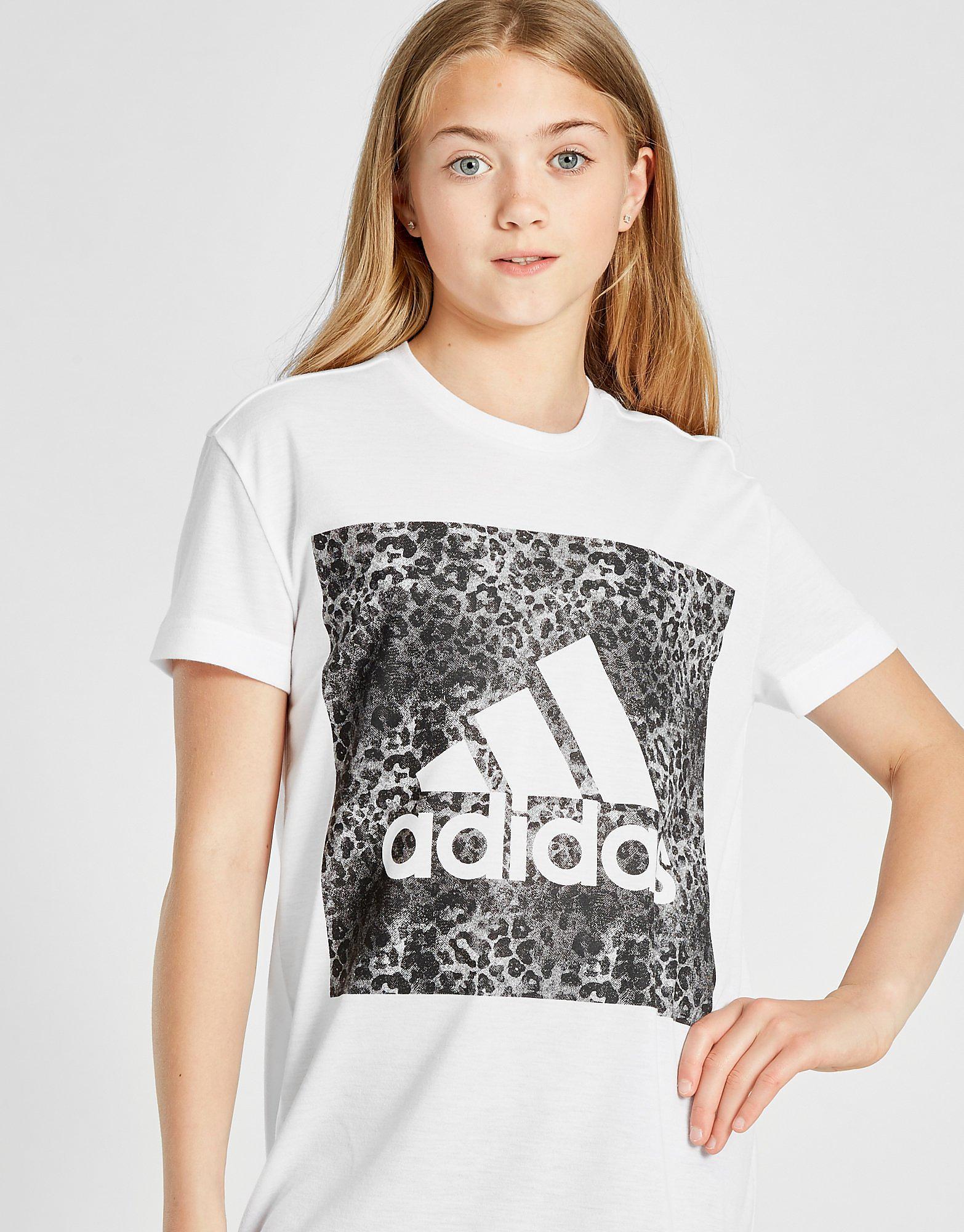 adidas Girls' Leo Box T-Shirt Junior