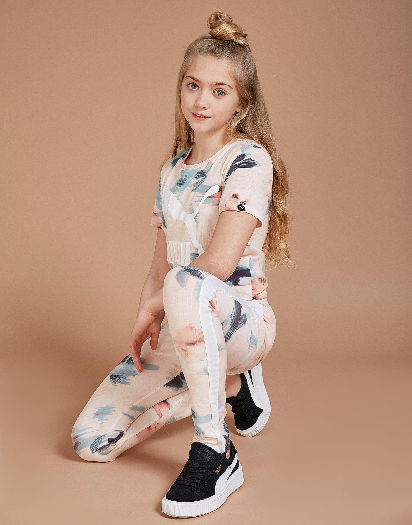 PUMA Girls' Floral All-Over-Print Leggings Junior