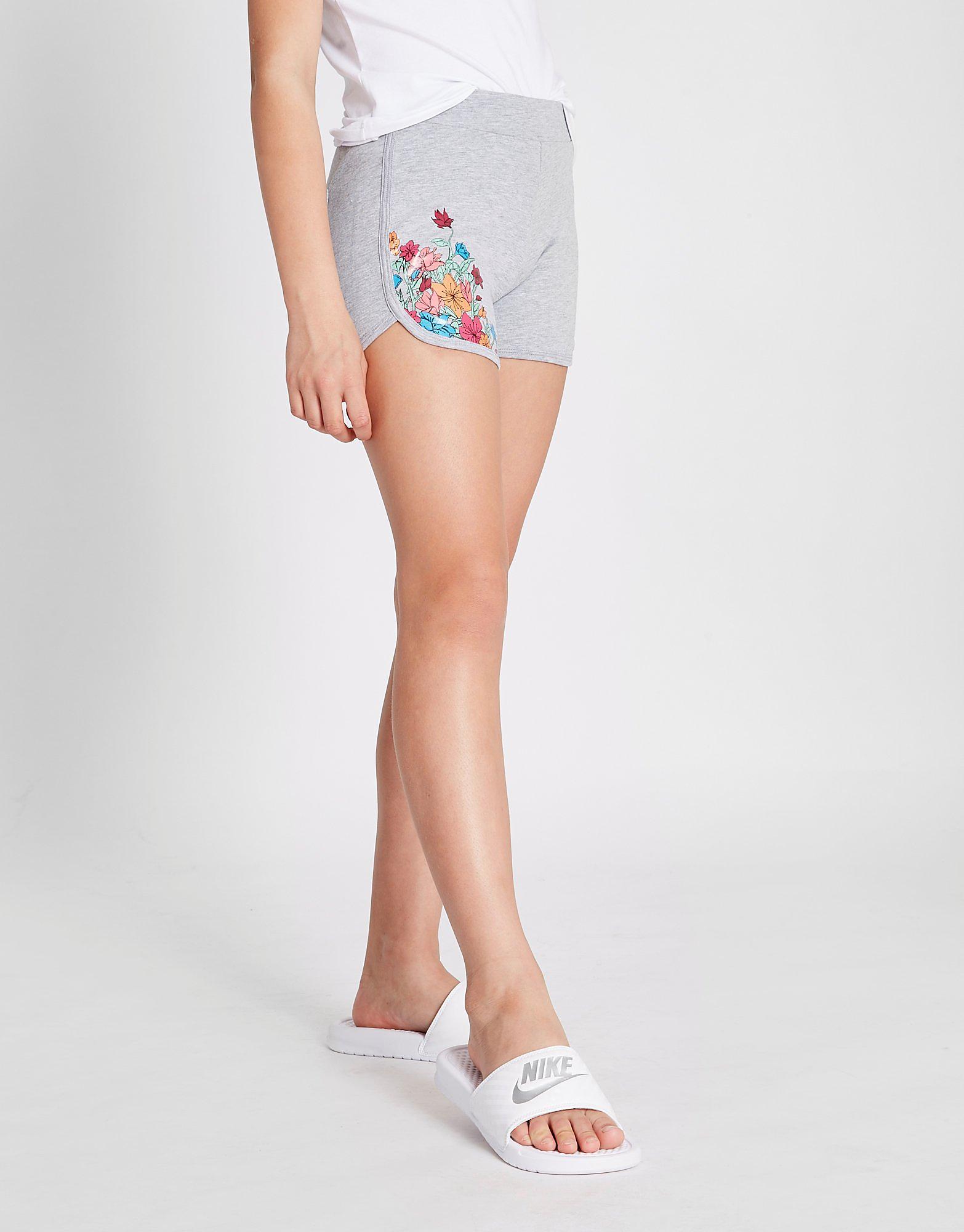 Emporio Armani EA7 Girls' Floral Fleece Shorts Junior