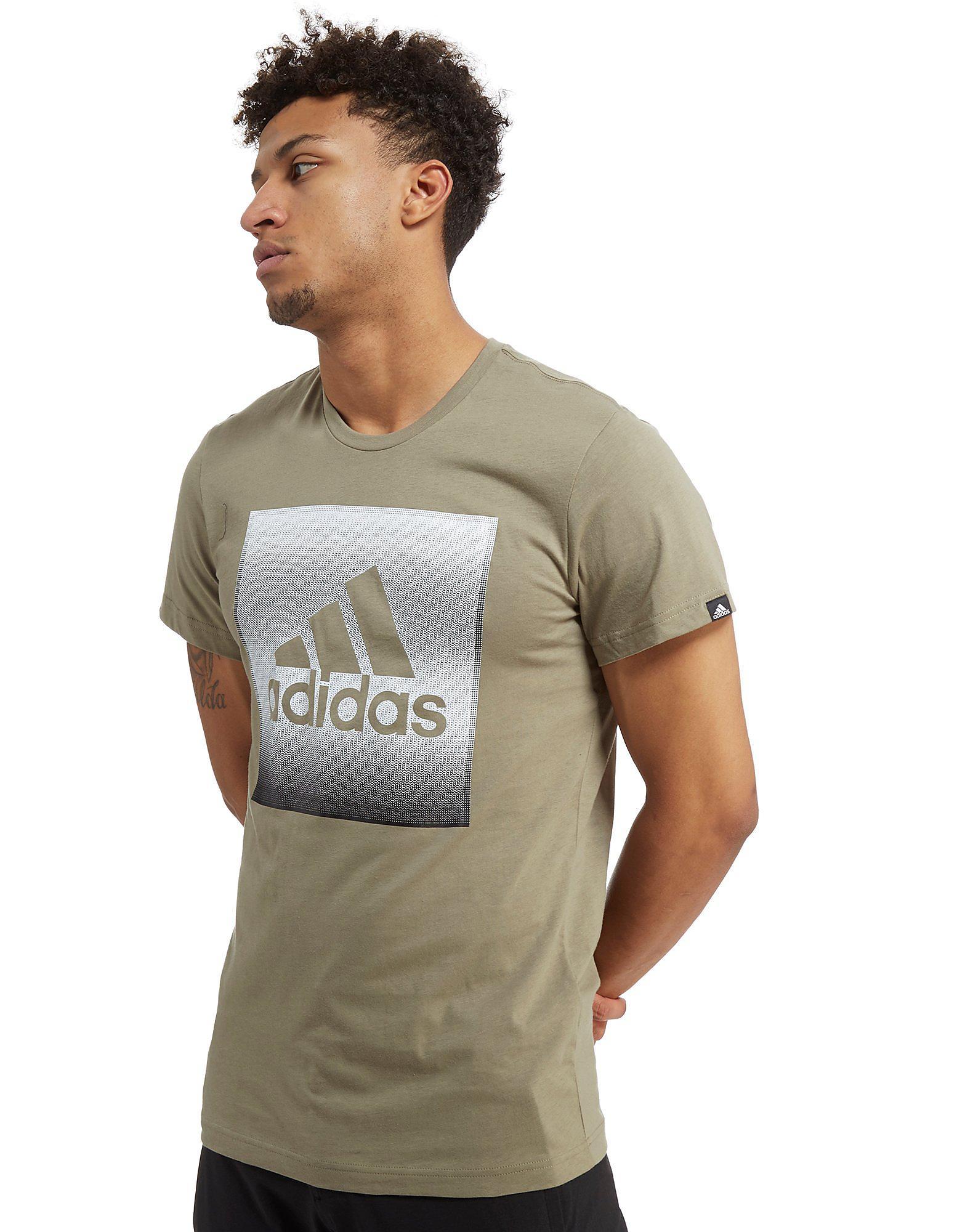 adidas Faded Box Logo T-Shirt Heren
