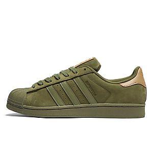adidas superstar khaki groen