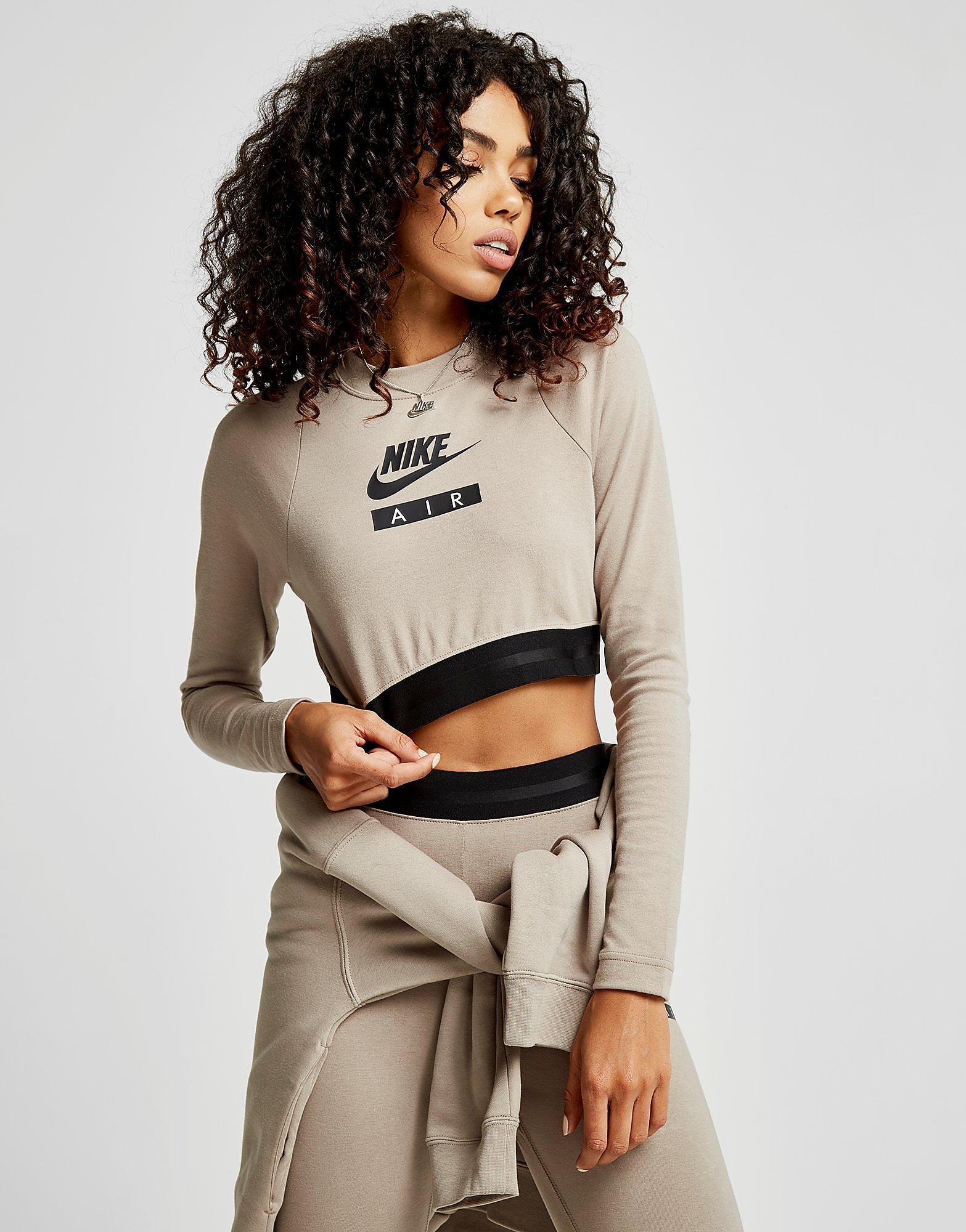 Nike Air Long Sleeve Crop Top Dames