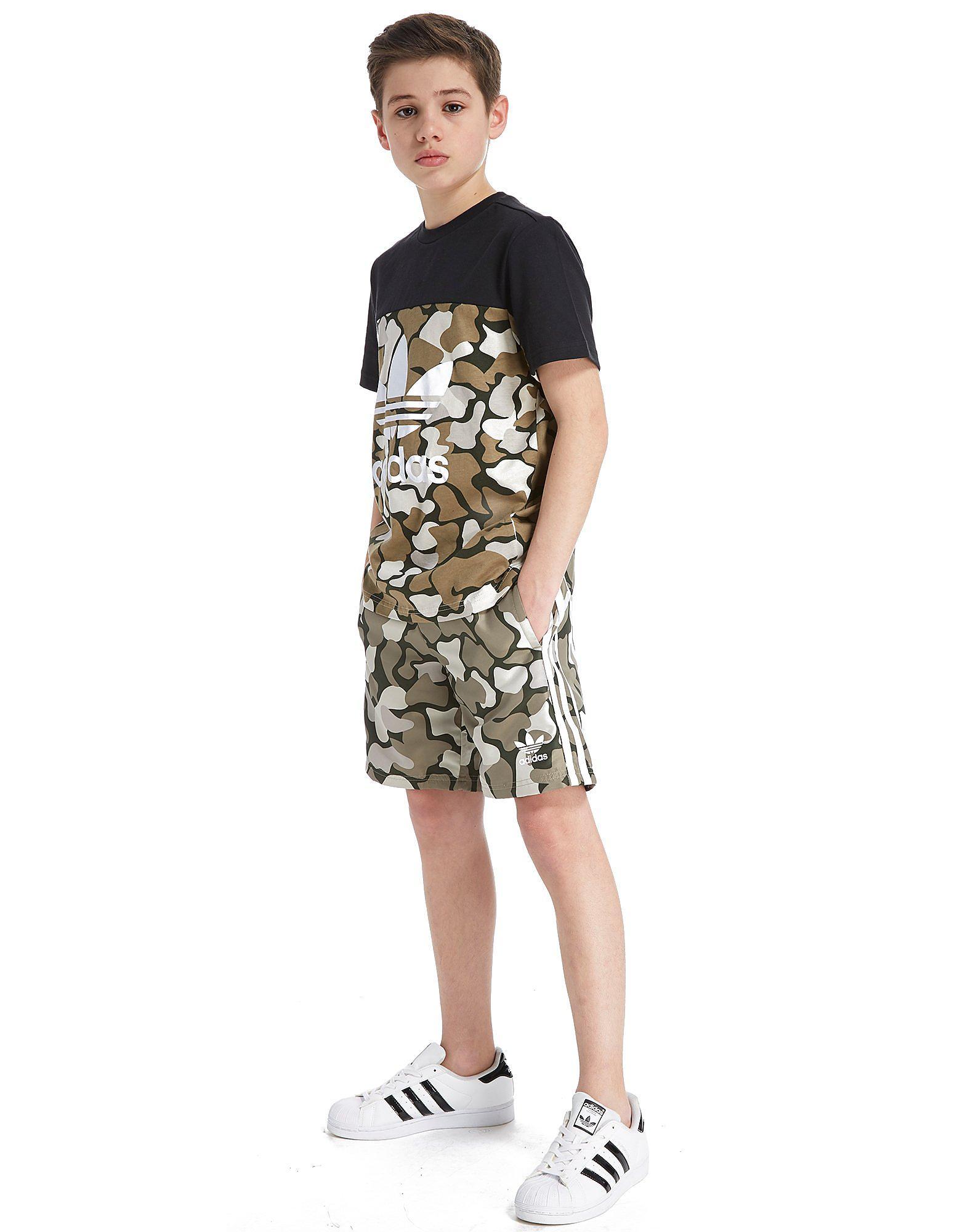 adidas Originals Trefoil Camo Swim Shorts Junior