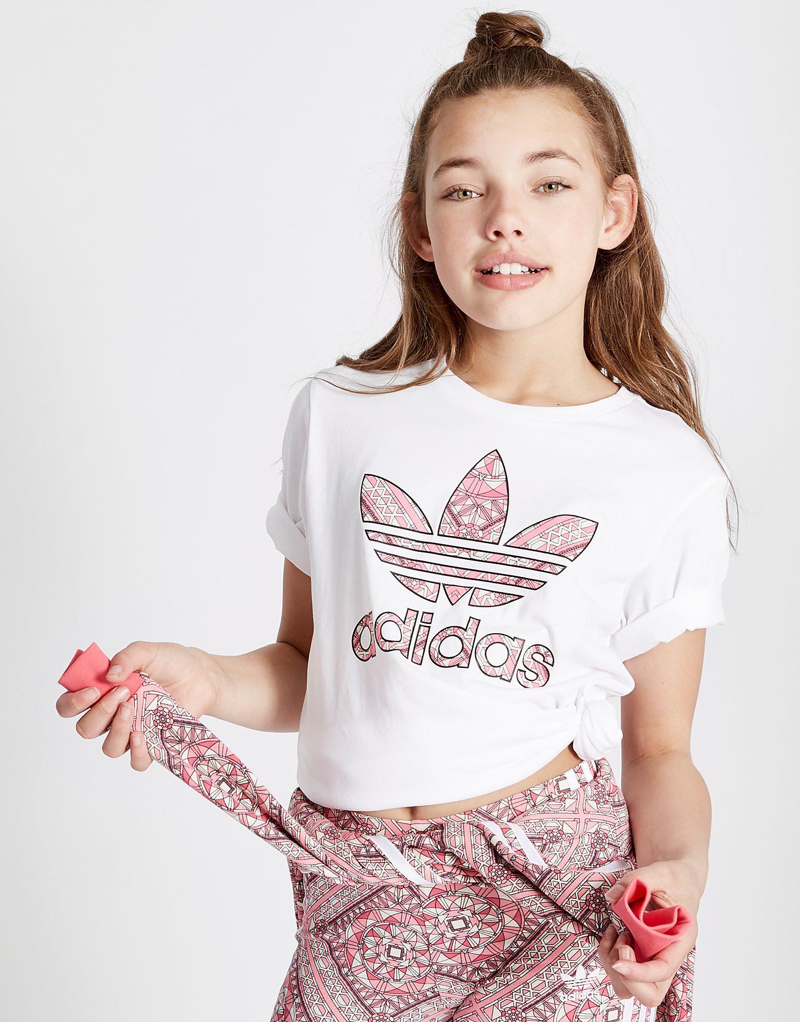 adidas Originals Girls' Geo Infil Boyfriend T-Shirt Junior