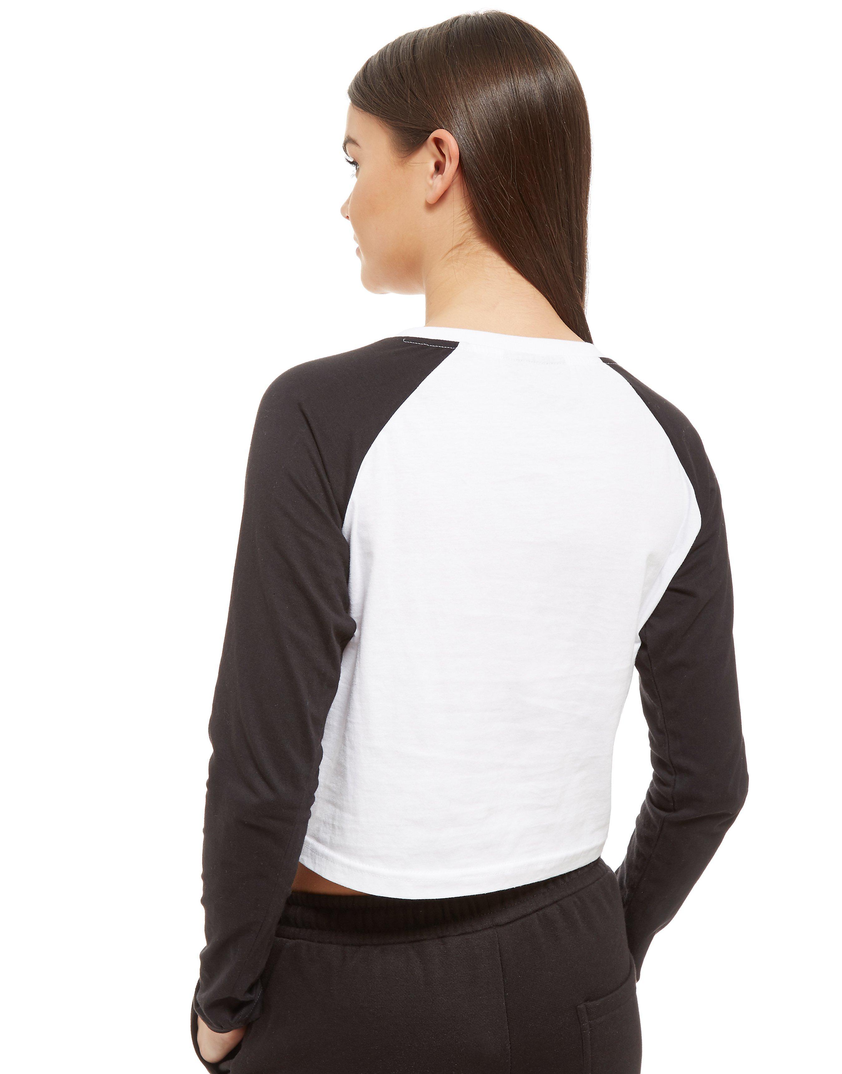 Nicce Raglan Long Sleeve Crop Top Dames