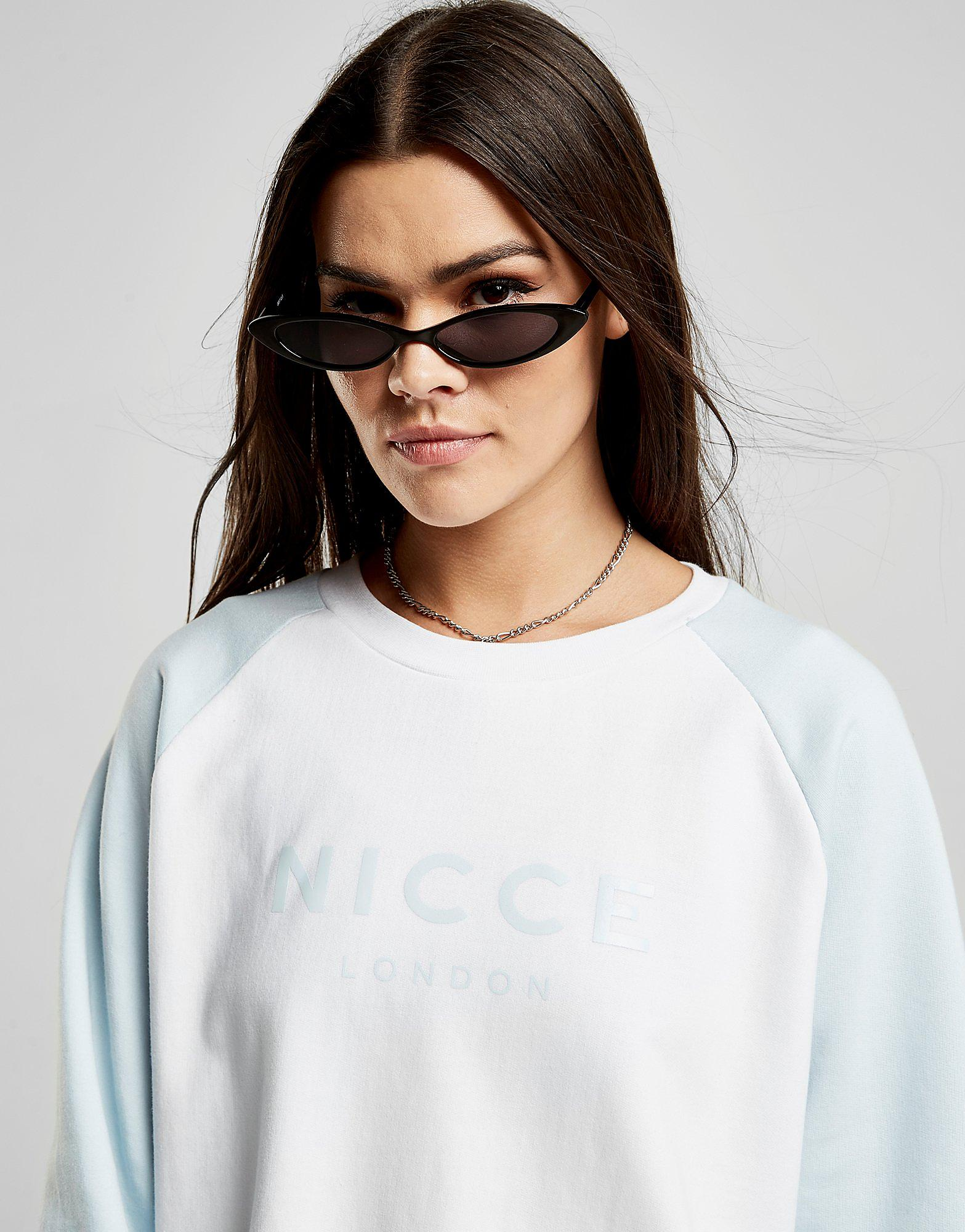 Nicce Raglan Logo Crew Sweatshirt