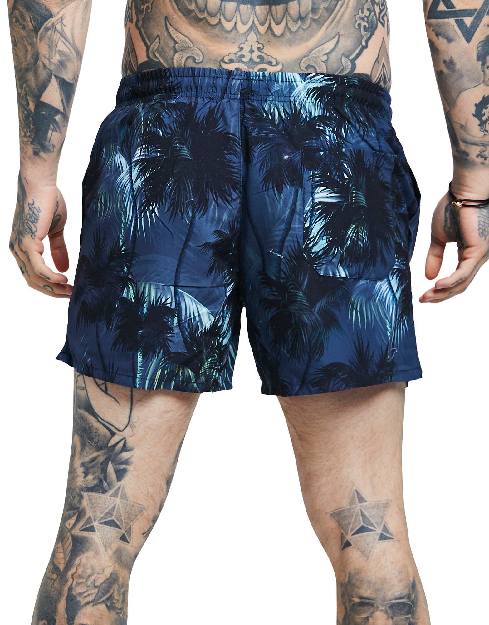 SikSilk Palm Tree Shorts