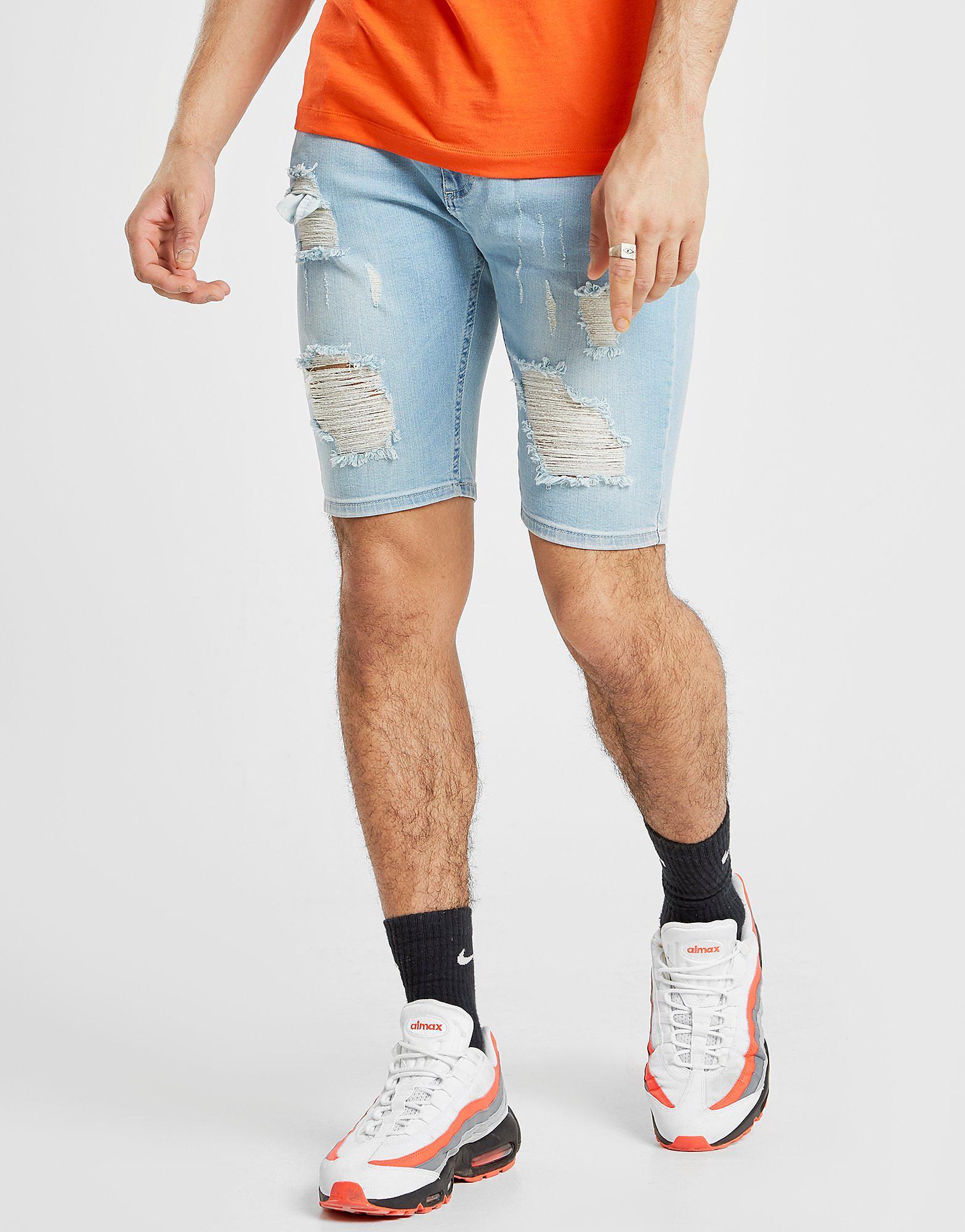 SikSilk Mid Denim Shorts