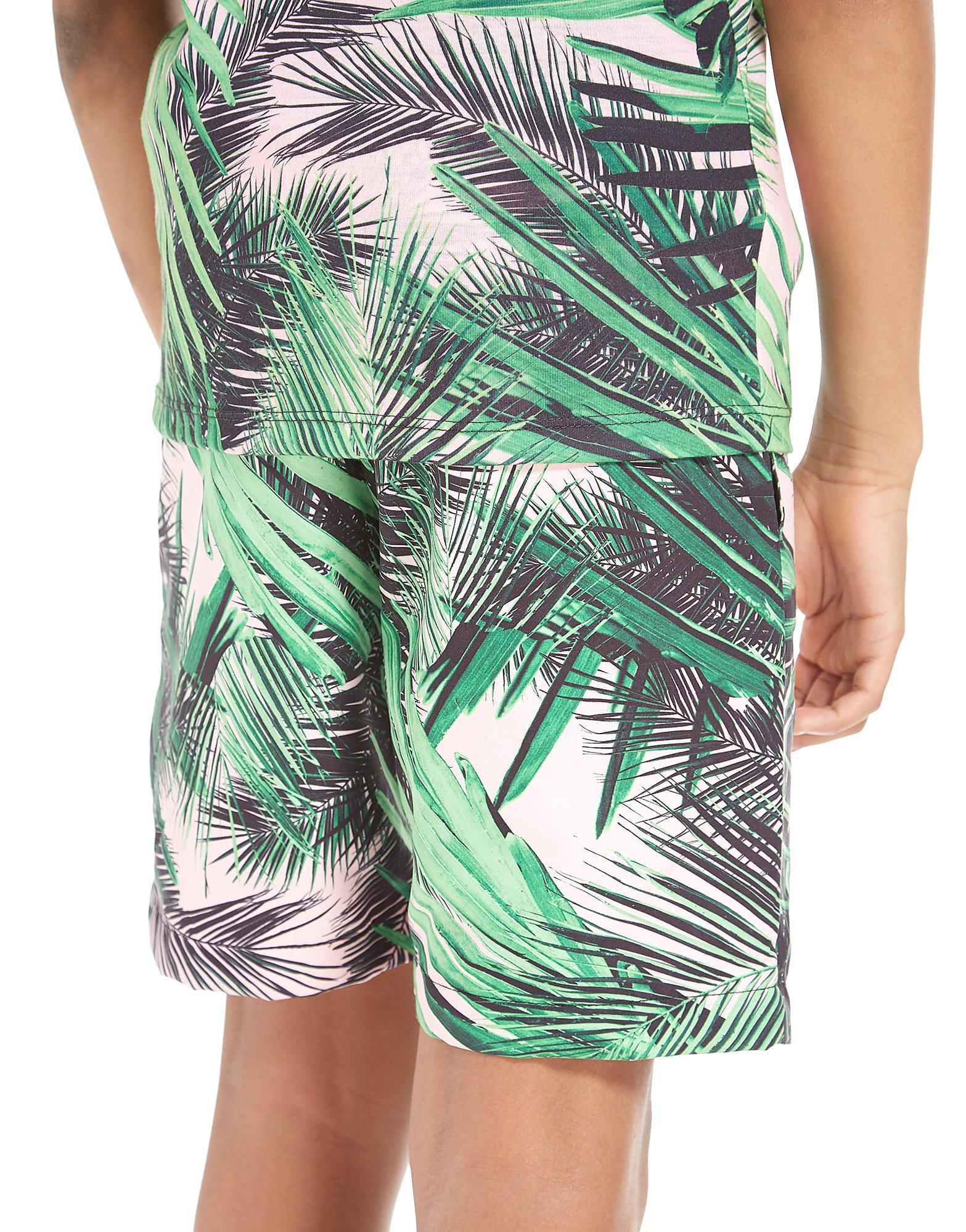 Hype Palm Print Shorts Junior