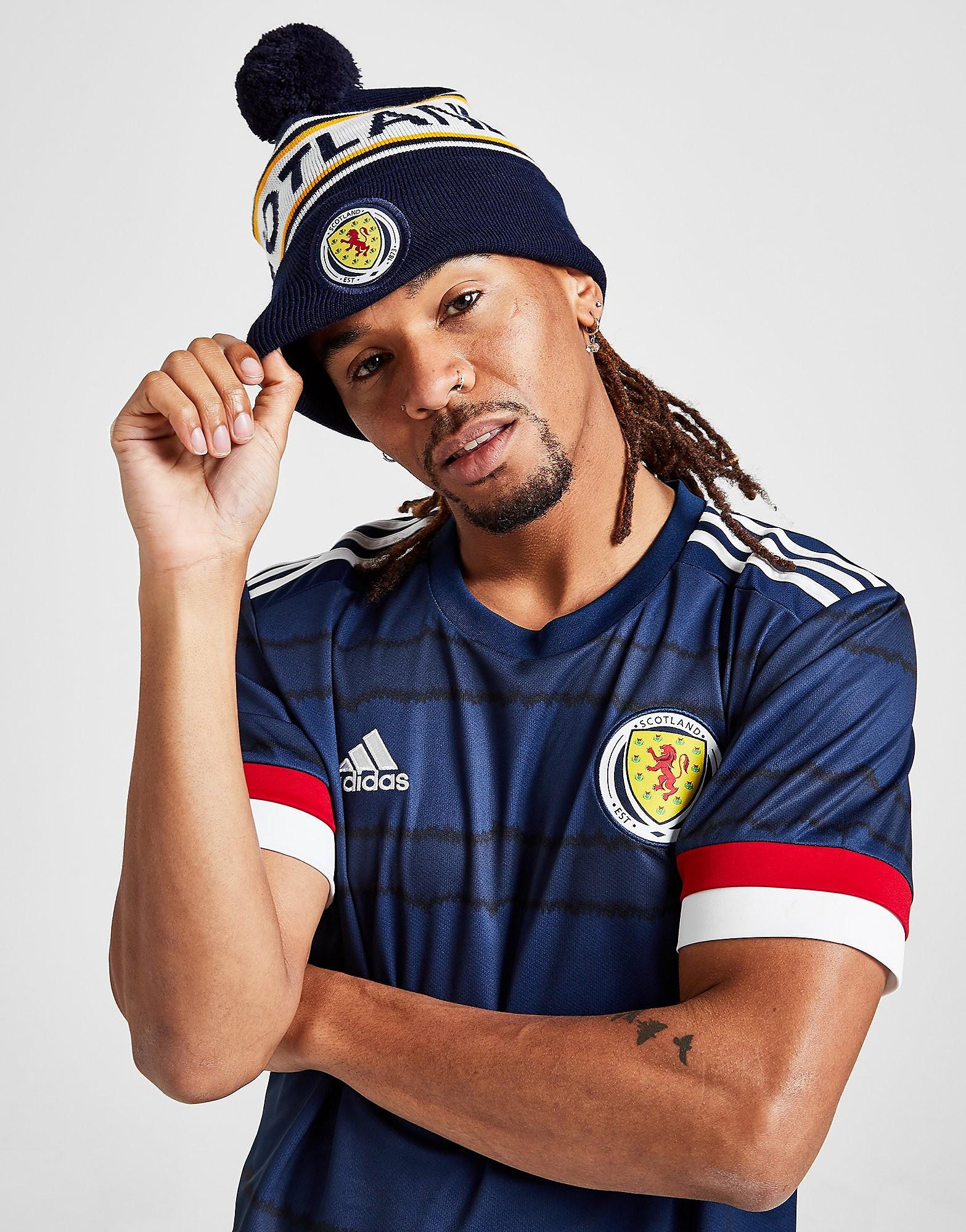 Official Team Schottland FA Strickpudelmütze mit Schriftzug