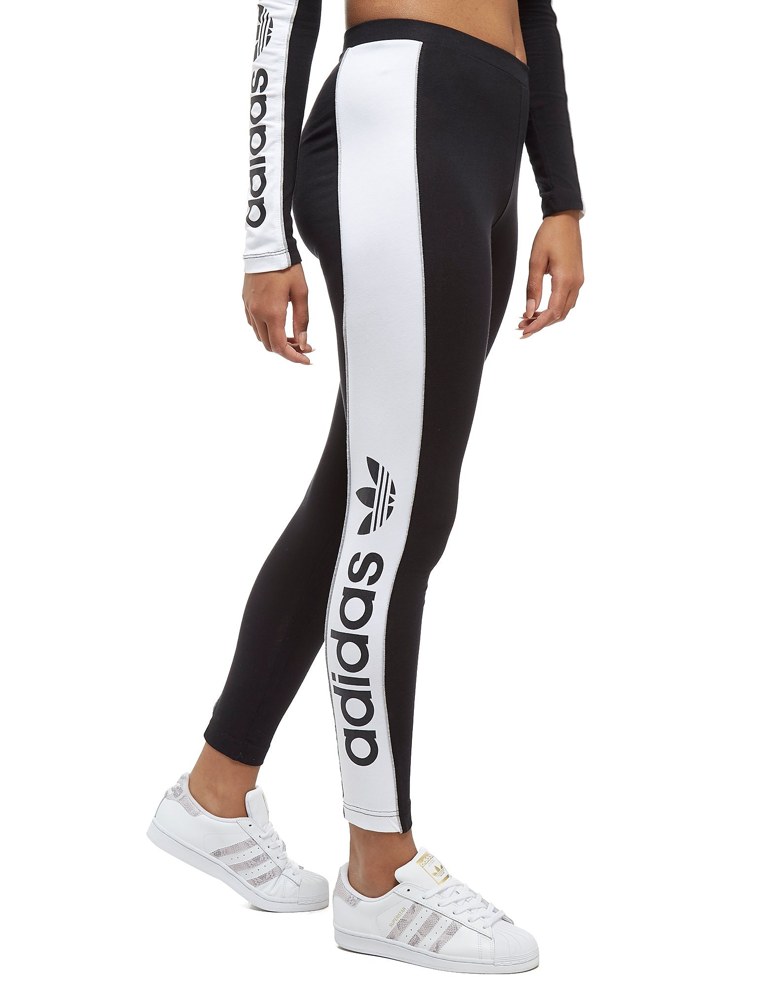 adidas Originals Linear Leggings Schwarz-Weiß