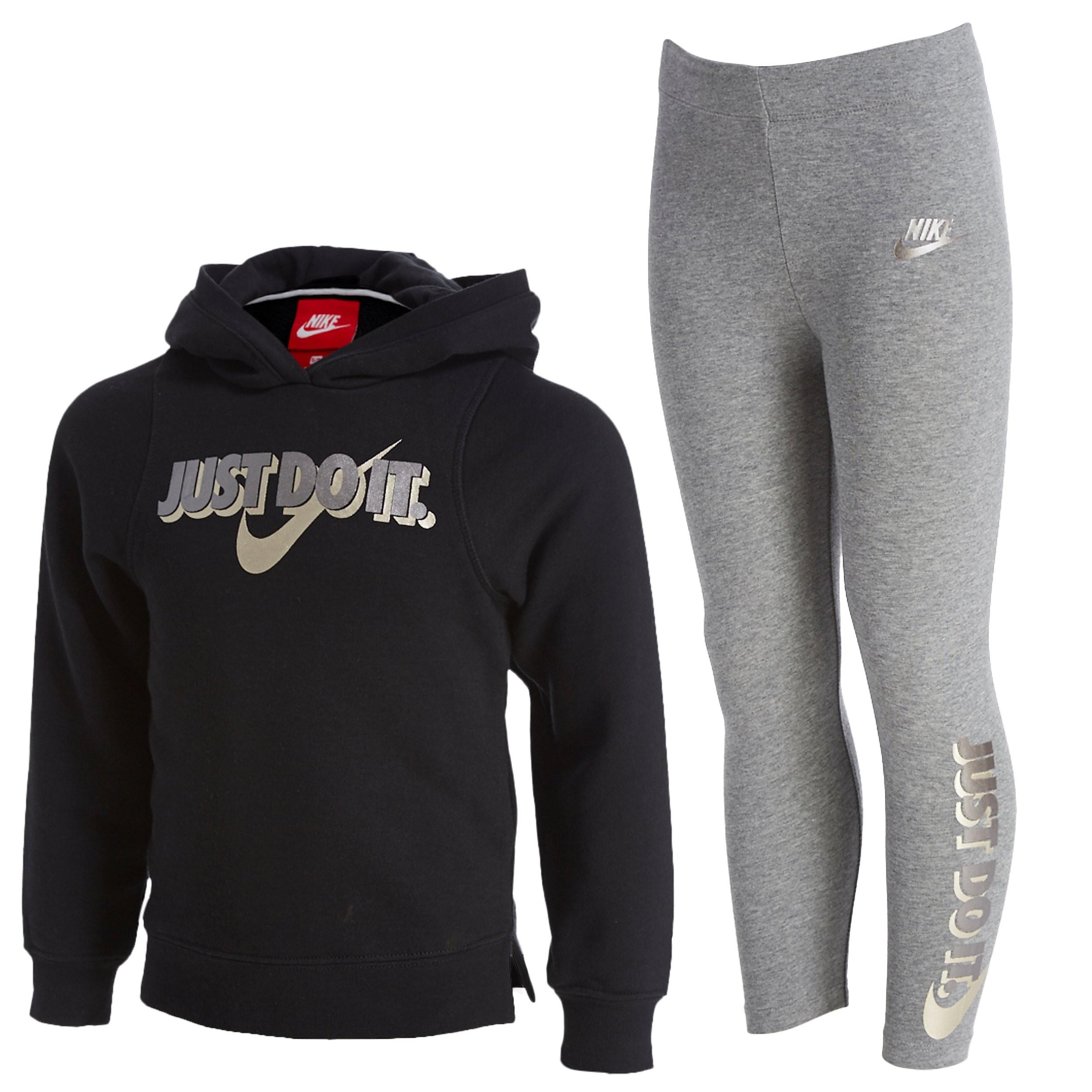 Nike Mädchen Just Do It Hoodie/Leggings Set Kinder