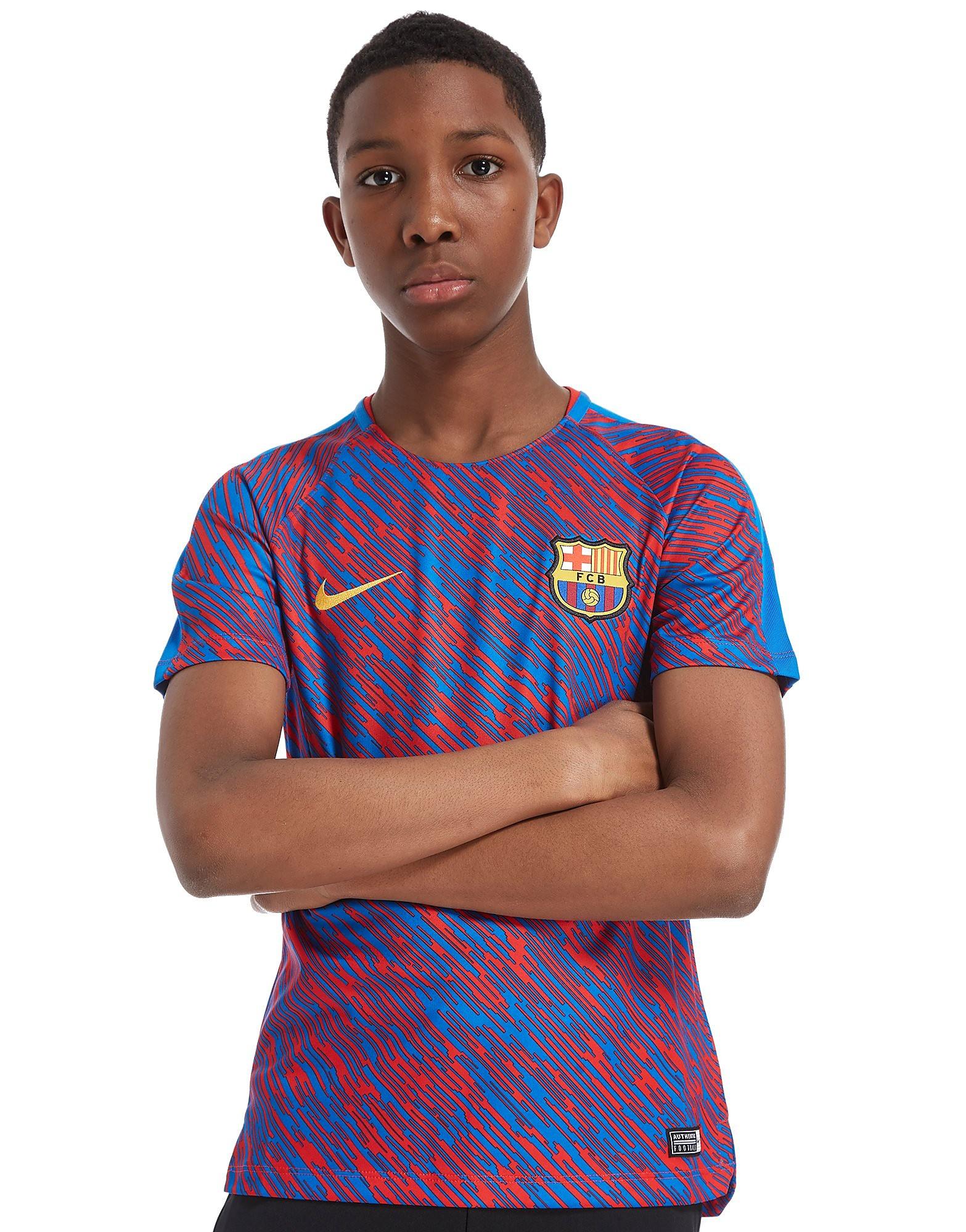 Nike FC Barcelona Squad Pre Match Shirt Junior