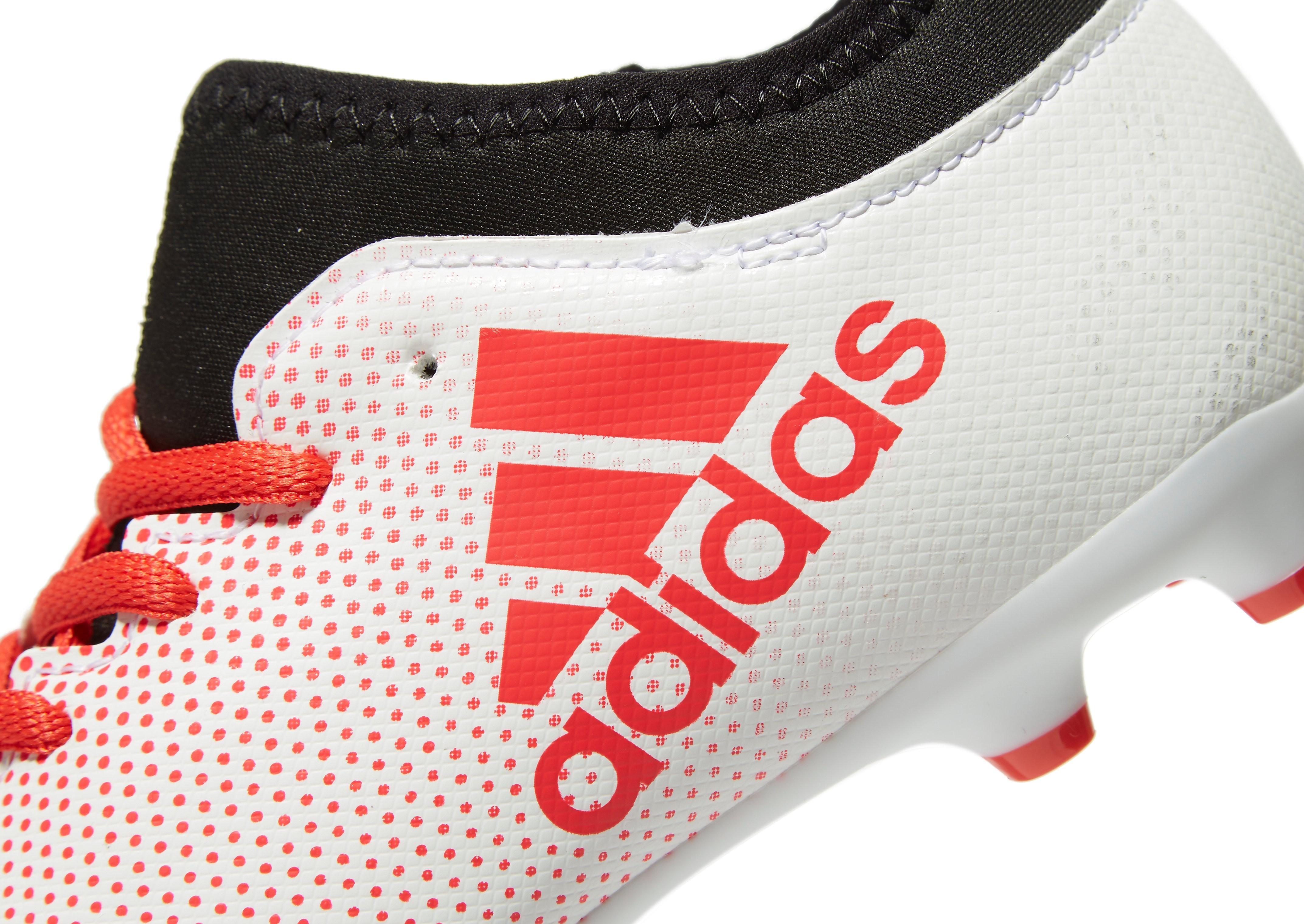 adidas Cold Blooded X 17.3 FG Kinder Weiß-Korallenrot