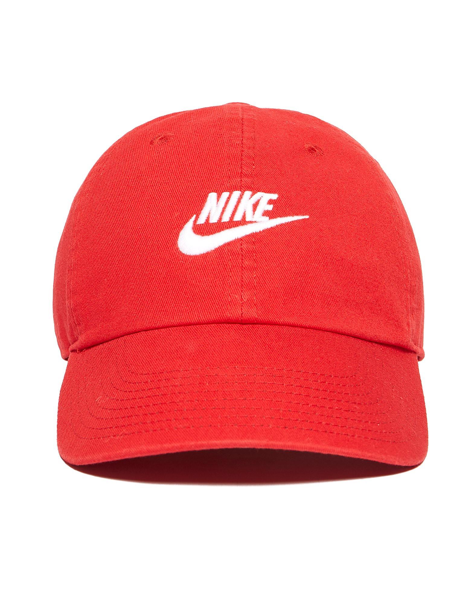Nike Futura Washed Kappe Rot