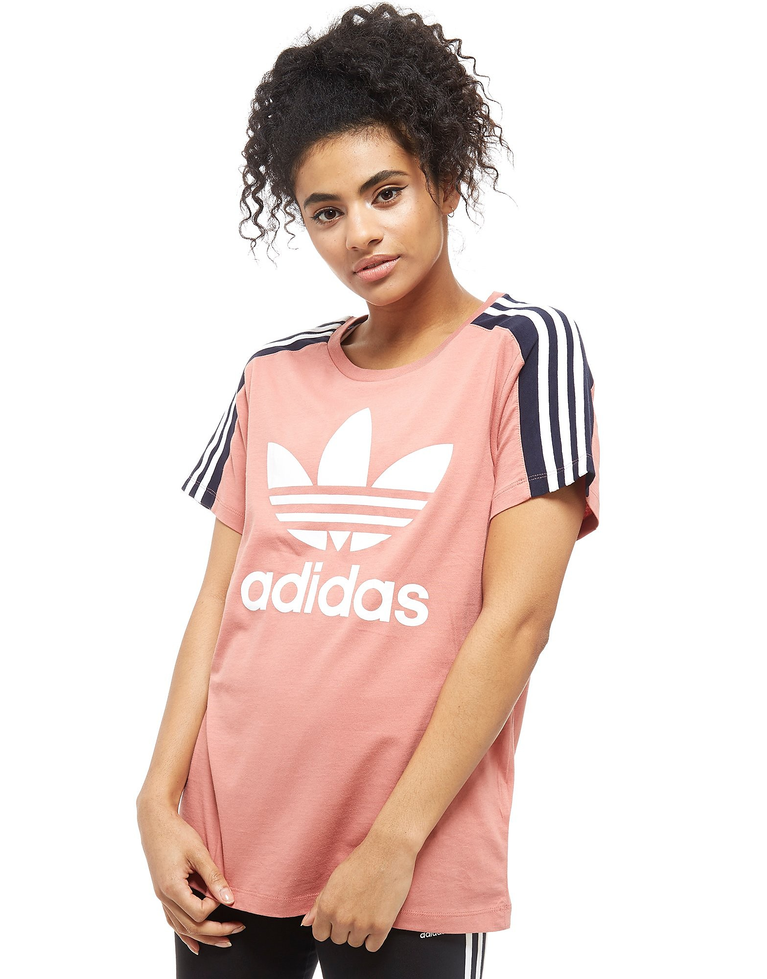 adidas Originals 3-Stripes Panel T-Shirt Pink-Marineblau