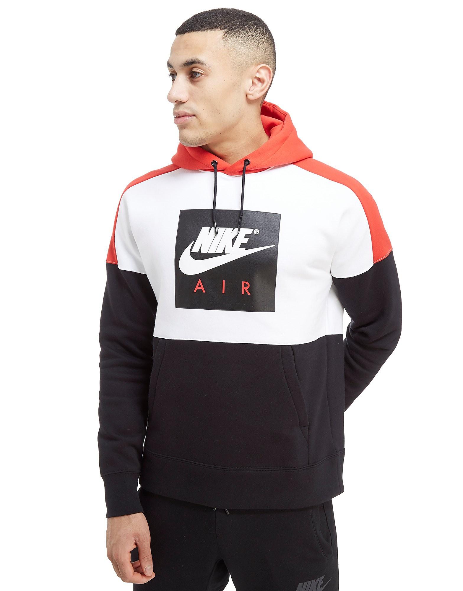 Nike Air Overhead Colourblock Hoodie Weiß-Rot/Schwarz