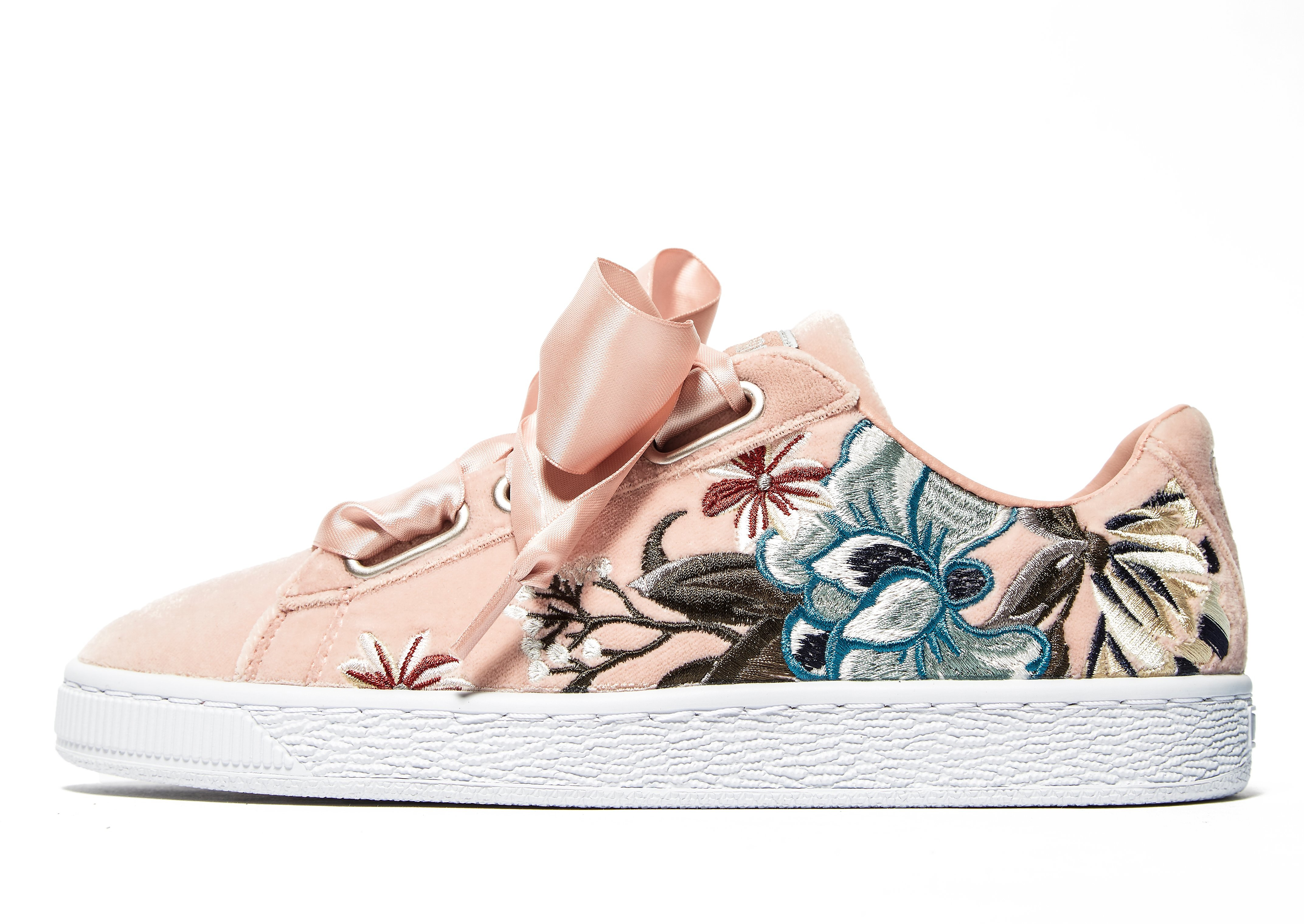PUMA Basket Heart Embroidered Women's