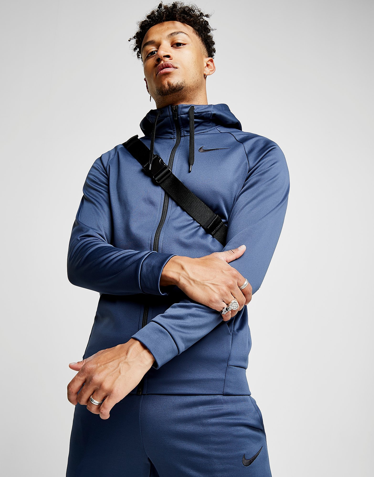 Nike Training Poly Full Zip Hoodie