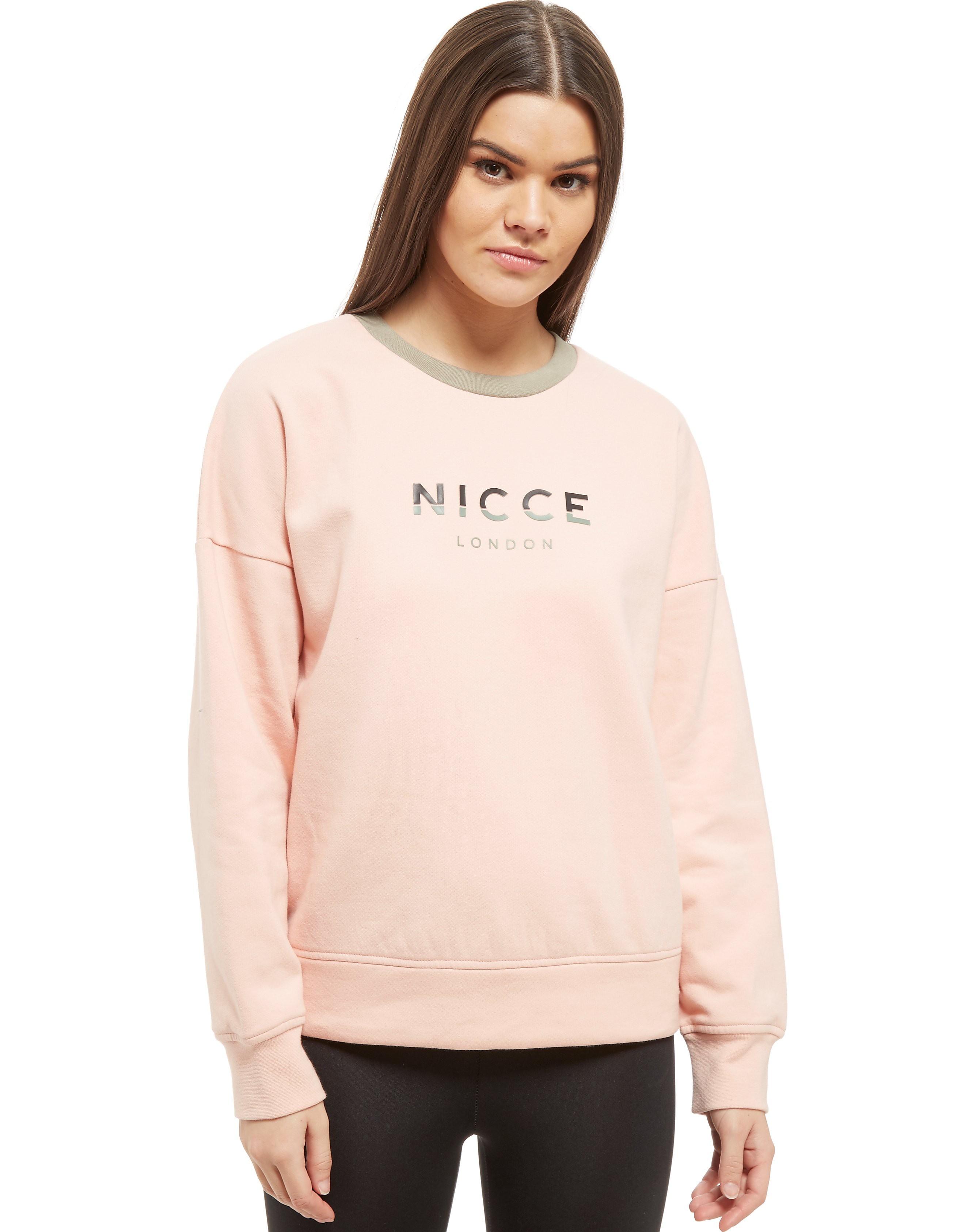 Nicce Slice Logo Rundhalsausschnitt Sweatshirt