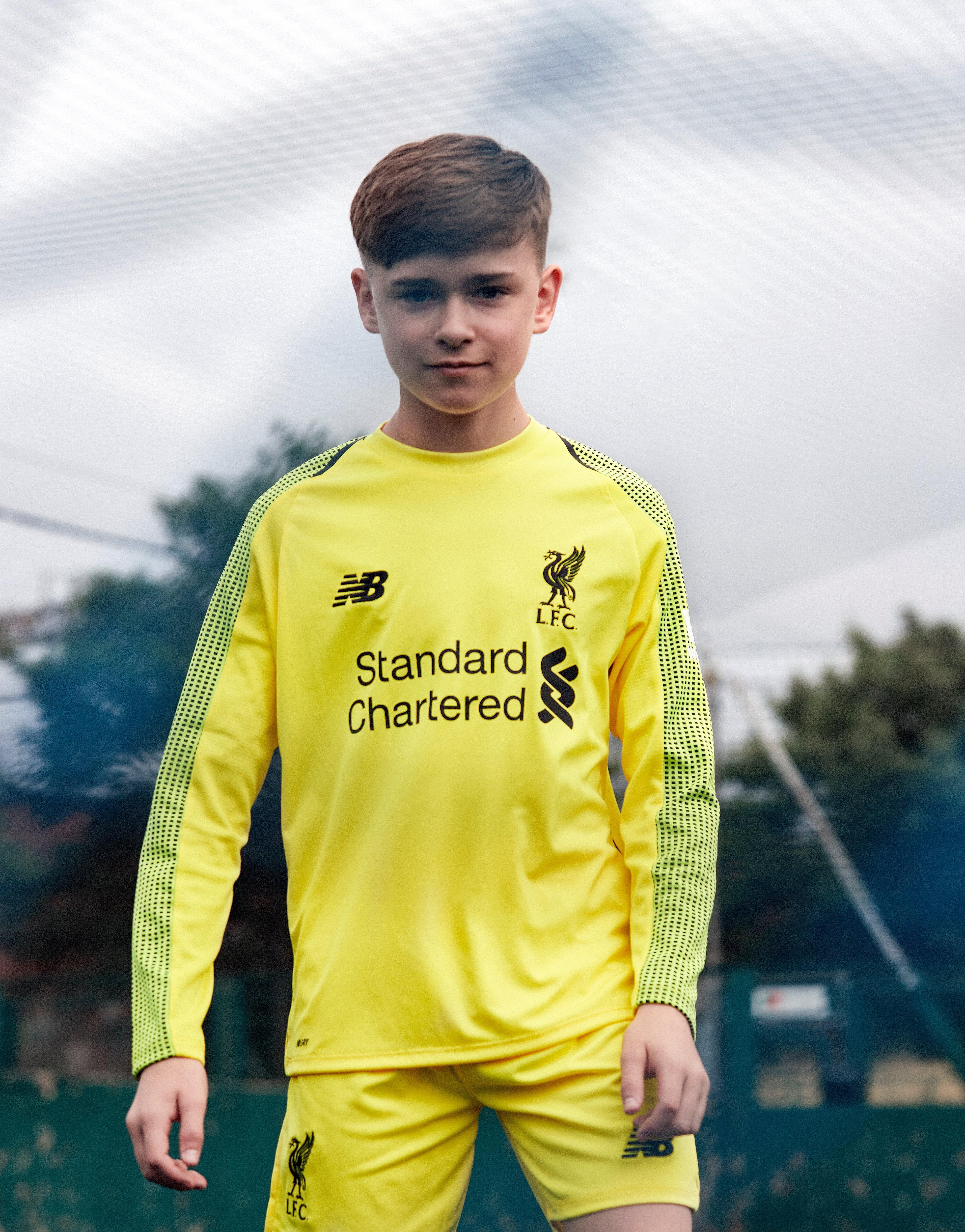 New Balance Liverpool FC 2018 Home GK Shirt Junior