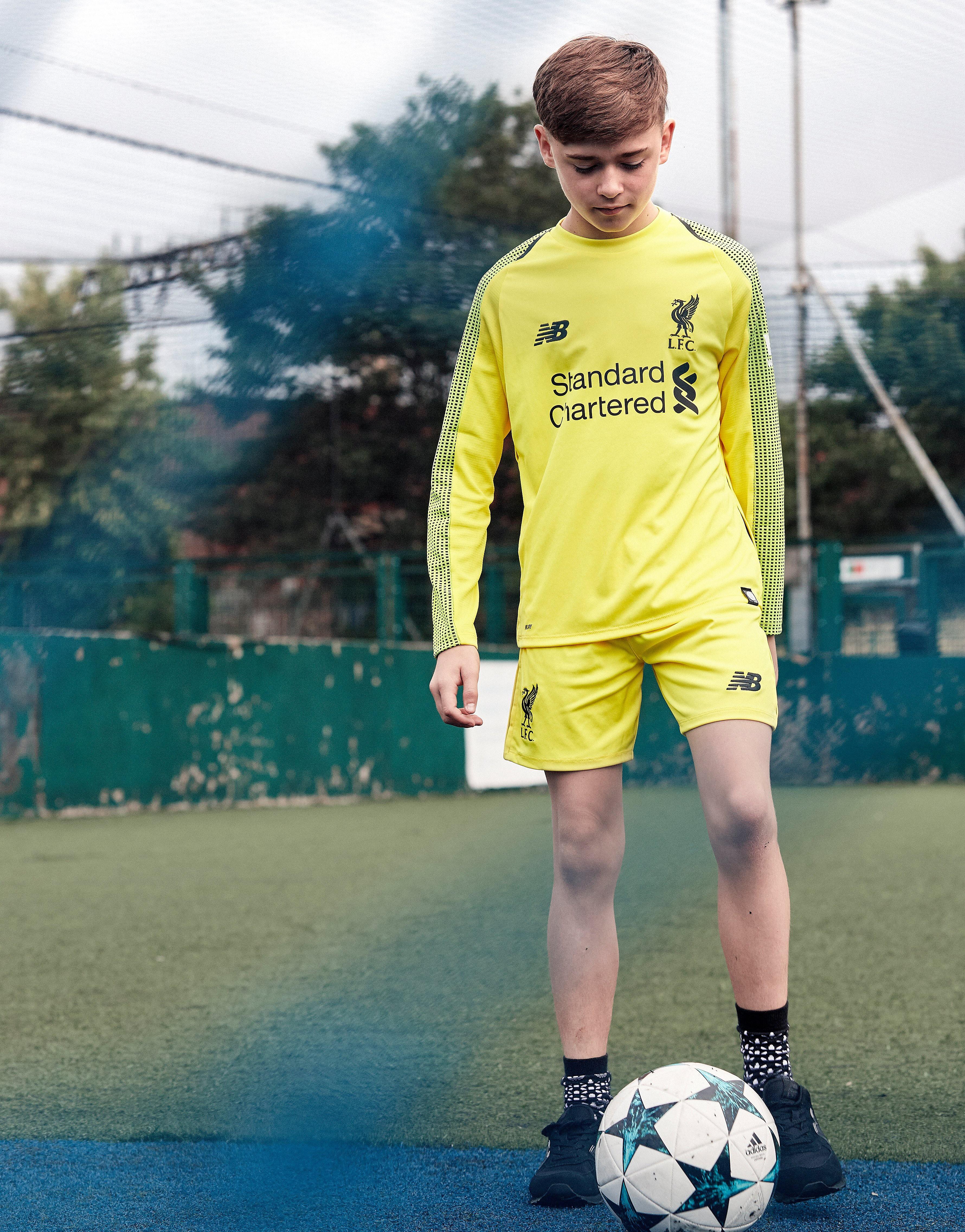 New Balance Liverpool FC 2018 Home GK Shorts Jnr