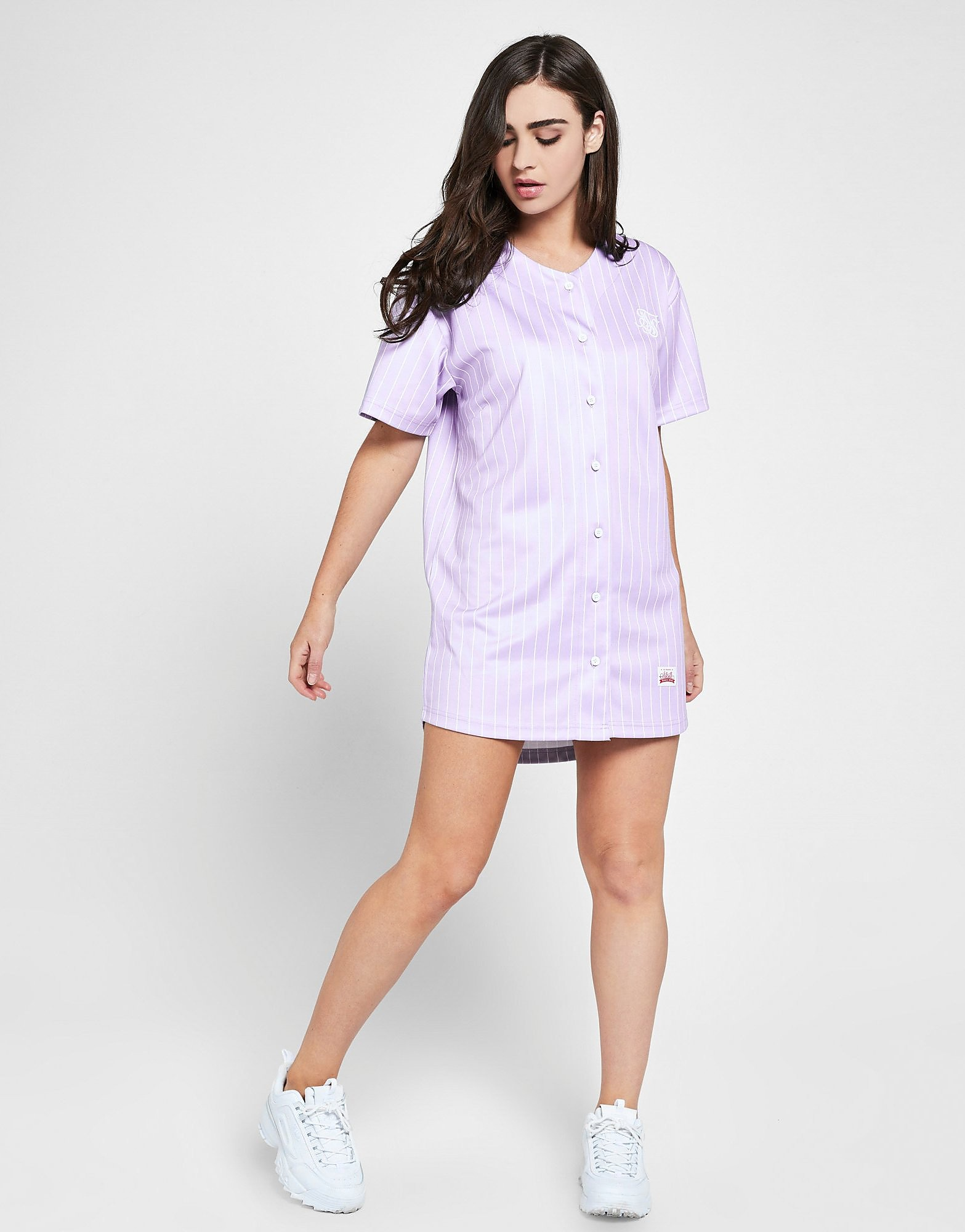 SikSilk Baseball Stripe Dress