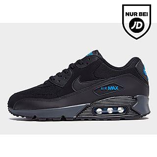 NIKE AIR MAX 90 Essential Leder Sneaker für Herren, schwarz