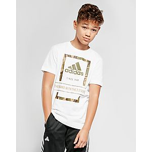 adidas Badge Of Sport Camo Outline T-Shirt Junior