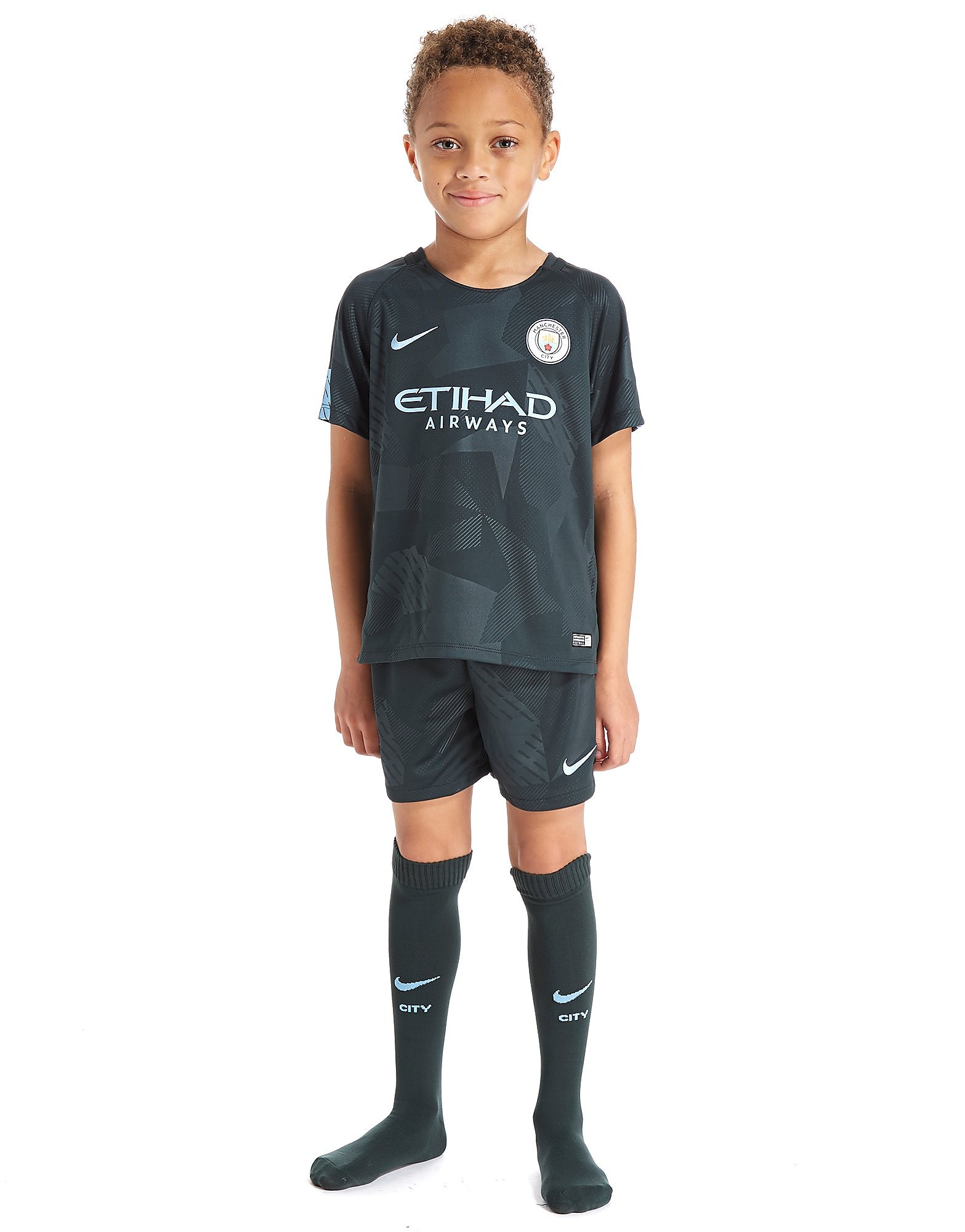 Nike Manchester City FC 2017/18 Drittes Kit Kinder
