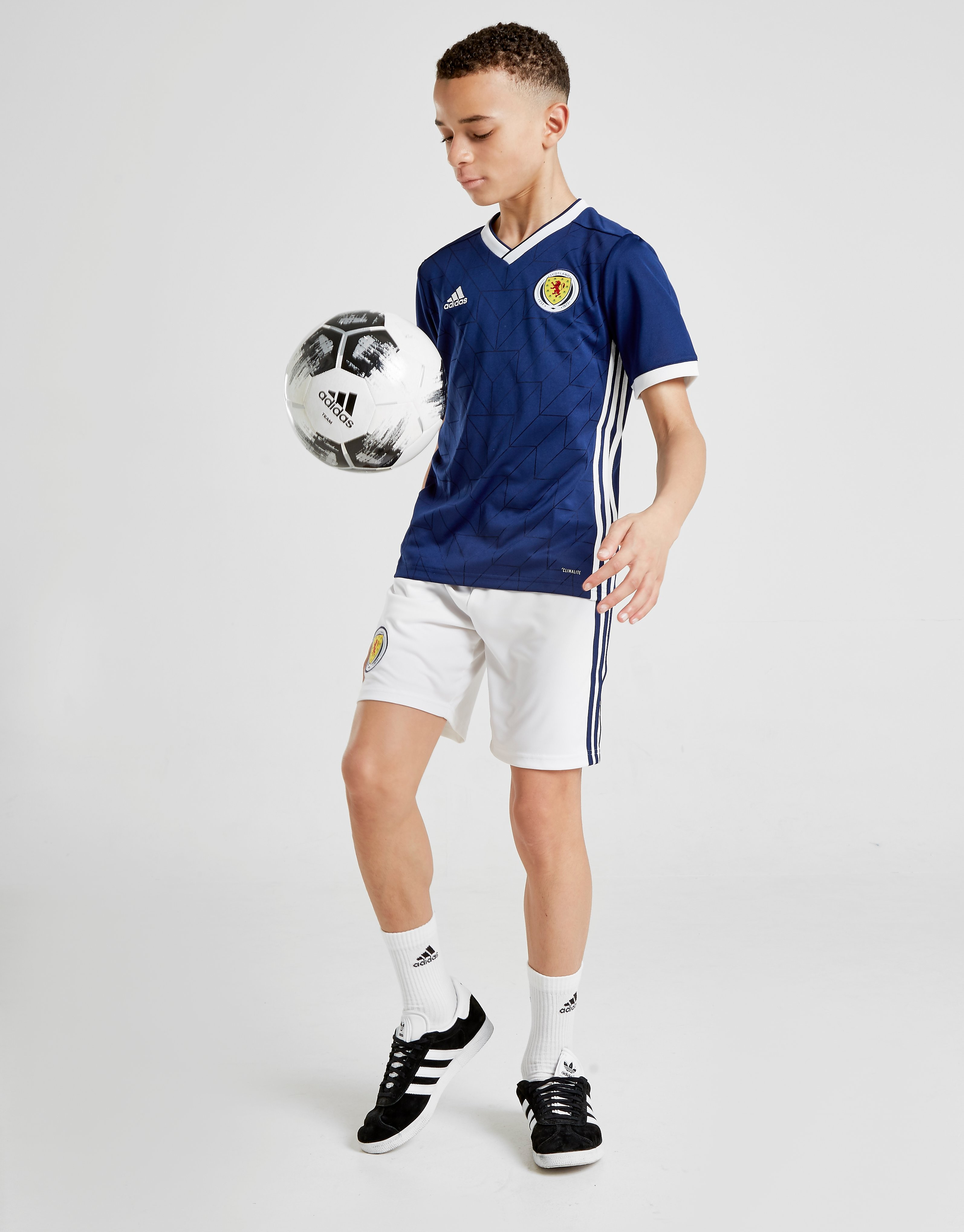 adidas Scotland 2017/18 Home Shorts Junior